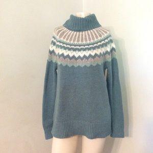 Loft Fair Isle Turtleneck Sweater M